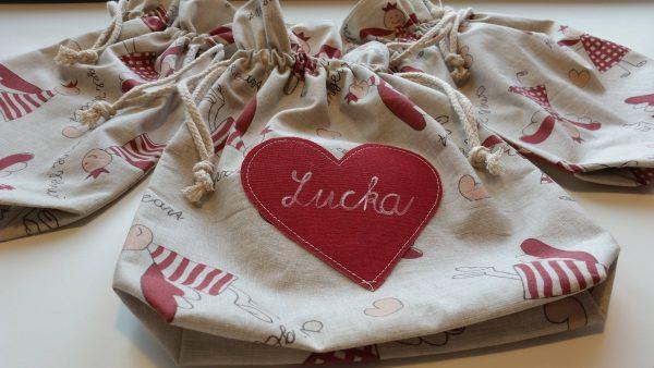 mikulášske vrecko plátené s menom