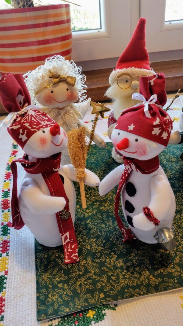snehuliak- vianočná dekorácia