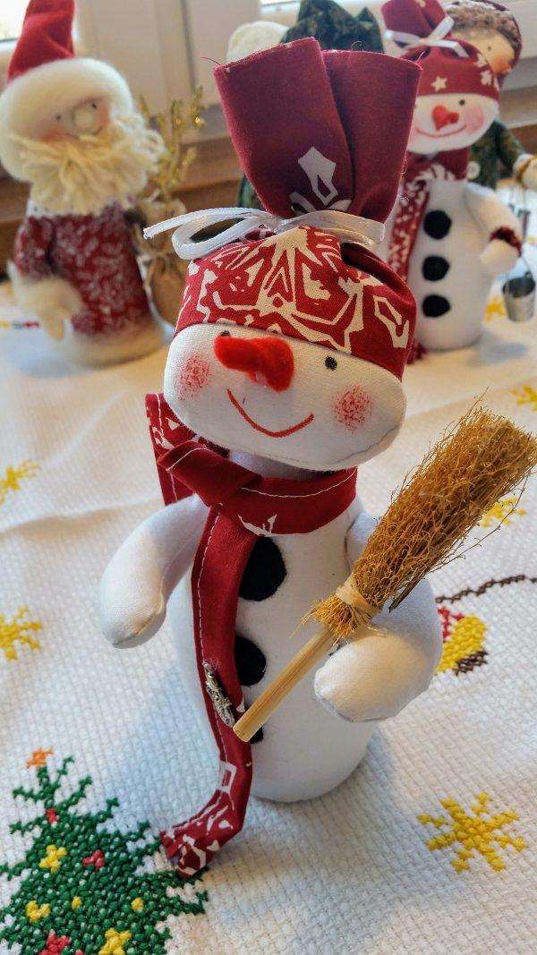 snehuliak - vianočná dekorácia