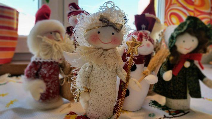 vianočná postavička anjel