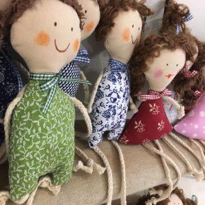 textilné hračky bábiky
